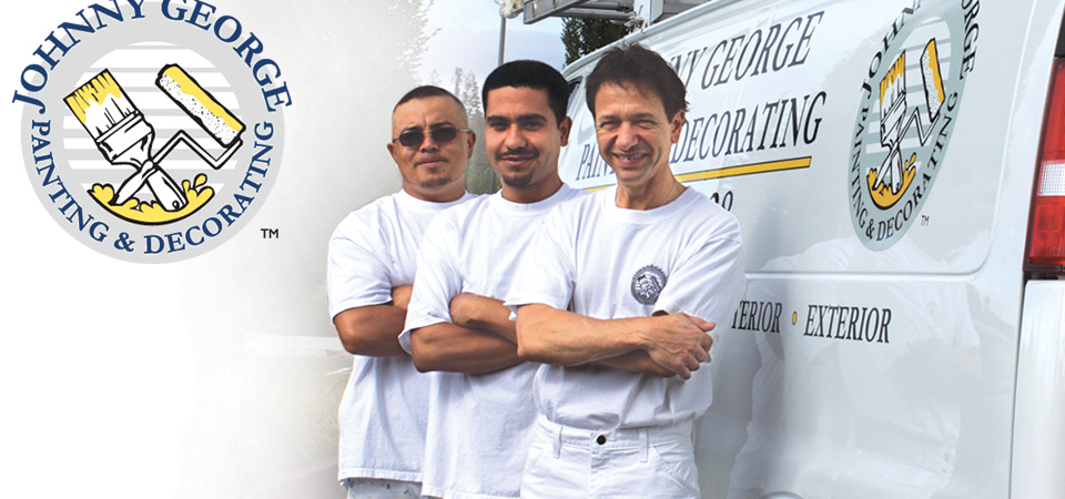 Johnny George, professional painting contractor in the Bay Area, with his team